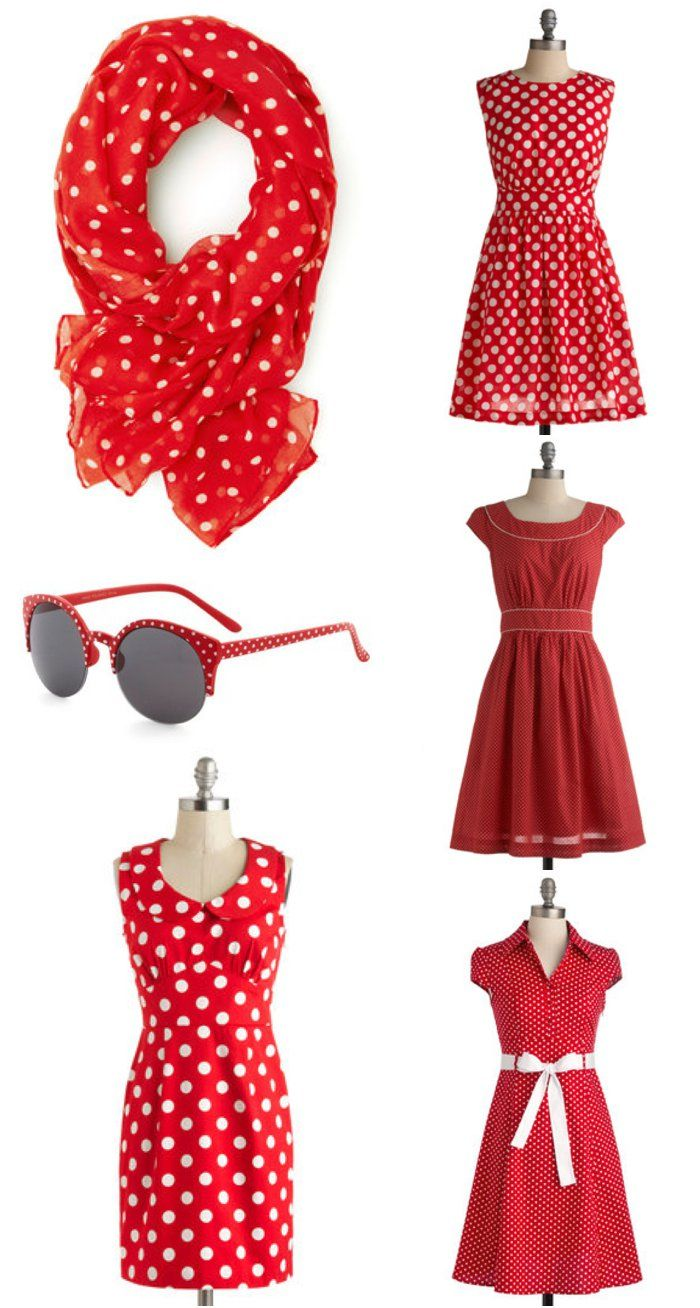 Red and white polka dot love! Perfect for a spring trip to Disney.
