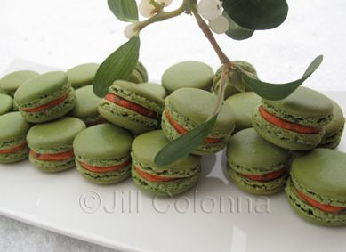 Thai red curry macarons for christmas