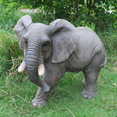Hi Line Gift Ltd Walking Elephant Statue Elephant 400 x 300