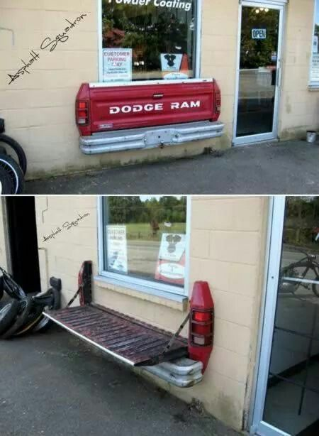 Tailgate bench. Love this idea