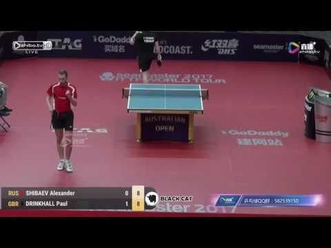 SHIBAEV Alexander vs DRINKHALL Paul 2017 Australian Open 호주오픈탁구대회