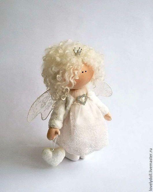 Коллекционные куклы ручной работы. Ярмарка Мастеров - ручная работа. Купить Ангел. Handmade. Белый, подарок на 14 февраля, кружево