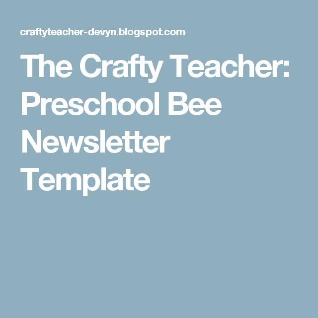 The  Best Preschool Newsletter Ideas On
