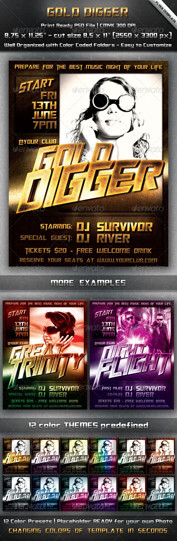images about that s party flyer psd flyer golden digger flyer this template suits perfectly for advertising any house dance tv