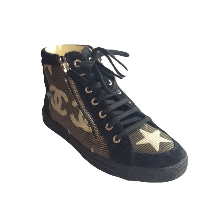 New in  Chanel Trainer Bo... lovely selection of beautiful products to buy here: http://timpanys.com/products/chanel-trainer-boots-with-star-detail?utm_campaign=social_autopilot&utm_source=pin&utm_medium=pin
