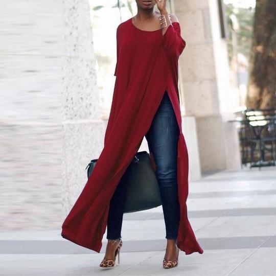 Top Blusas 2018 Spring ZANZEA Women 3/4 Sleeve Maxi OL Blouse Fashionr – rricd…