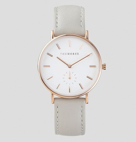 The Classic - Rose Gold / Grey Leather / The Horse