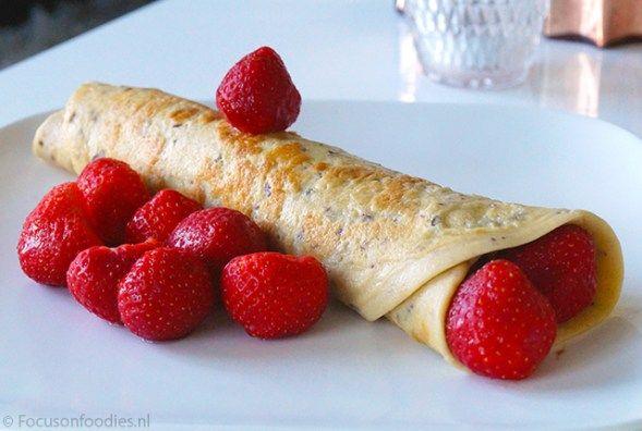 Glutenvrije en suikervrije proteine pannenkoekjes