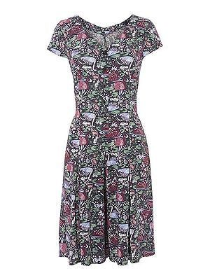 NEW Dickens and Jones Navy Blue SWAN Print Culottes Dress Playsuit Jumpsuit
