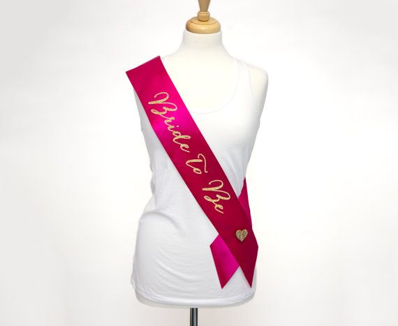 So Cute! Bride Sash for Bridal Shower or Bachelorette Party by ZCreateDesign