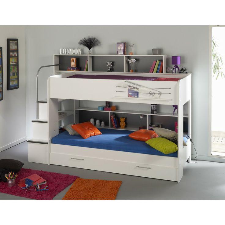 17 meilleures id es propos de lit superpos escalier sur pinterest lit su - Lits superposes avec rangements ...