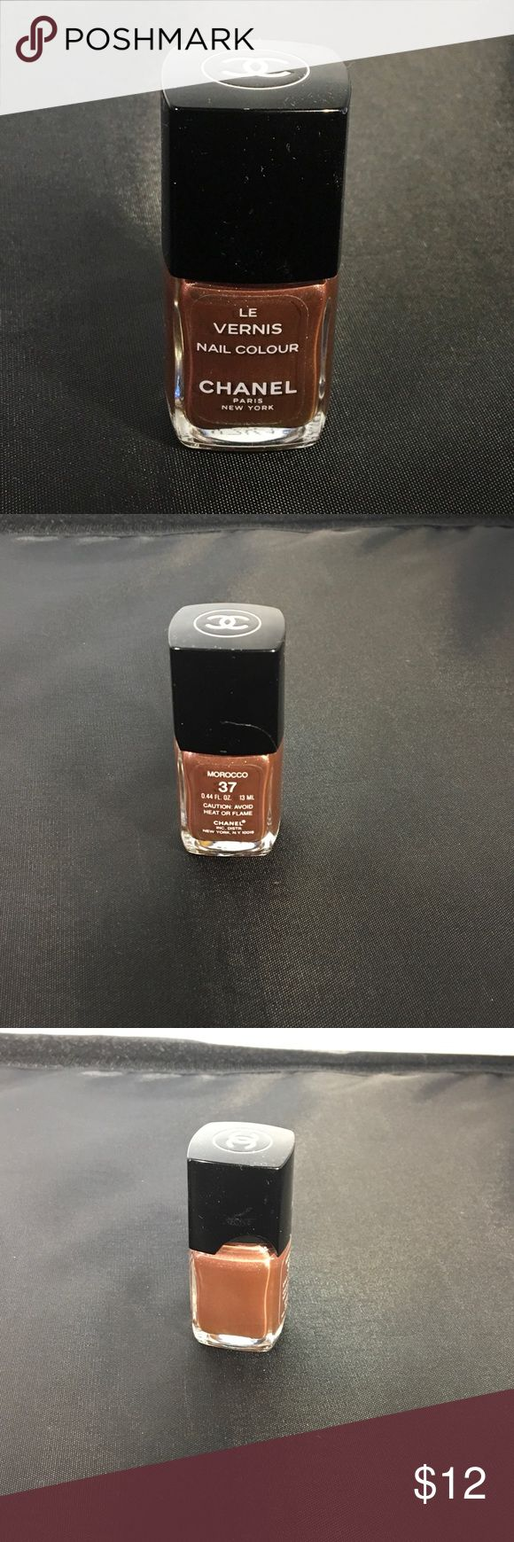 LAST CHANCE! Chanel RARE Nail Polish Morocco 37 Three quarter full.  Lid is cracked and broken but has no effect on polish. PRICE FIRM. CHANEL Makeup