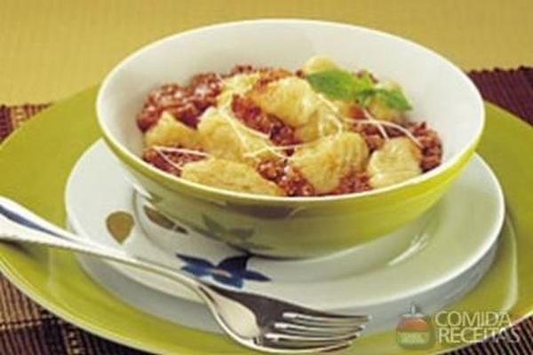 Receita de Nhoque à bolonhesa diferente em Massas, veja essa e outras receitas aqui!