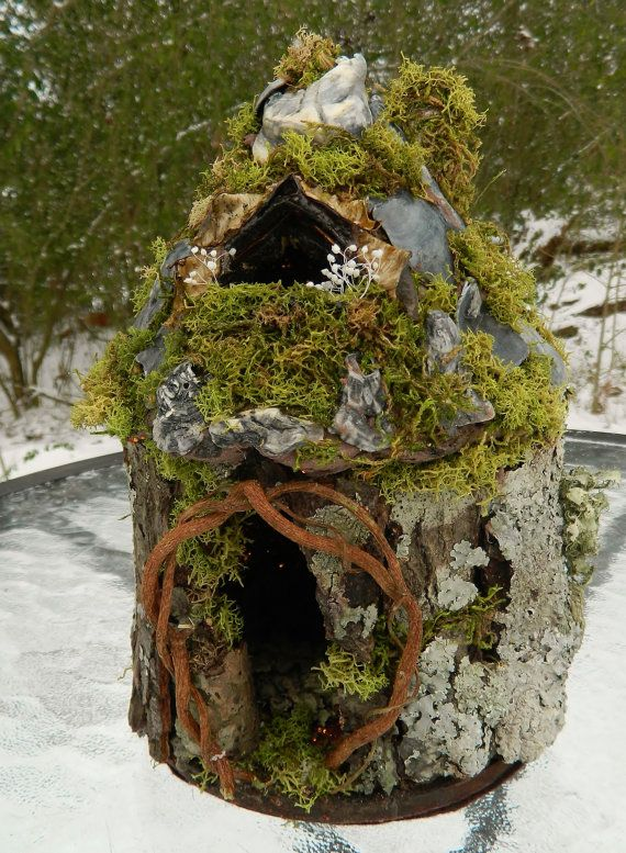 Hand crafted fairy house. Made with natural by FayGlenLaurels, $60.00