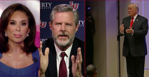 Jerry Falwell Jr thanks Trump for 'defending the liberties of Christians, not just Muslims, like our last president'