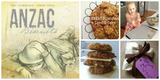 Anzac Biscuit Collage_My Little Bookcase- These would be great to make for Veterans Day. This book looks great too.