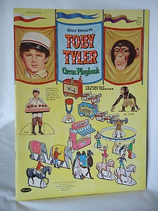 Vintage Walt Disney Toby Tyler Circus Push Out Playbook Unused Whitman 1959