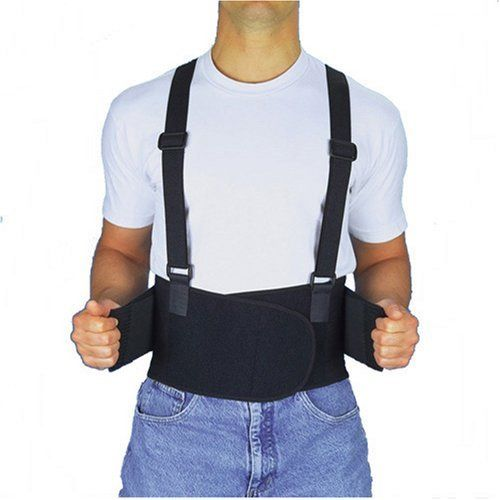 """Maxar Work Belt - (Industrial Lumbo-Sacral Support) - Standard, Large by Maxar. $34.08. Provides excellent support and comfort to the abdominal and lumbo-sacral areas. This standard, industrial-style lumbo-sacral support is 8"""" wide and has four (S-M) or six (L-XL-2XL) plastic stays. Two additional side pulls for better fit and tension adjustment. Made with standard breathable mesh and attached suspenders. The Work Belt is recommended to those who have a great deal of ..."""