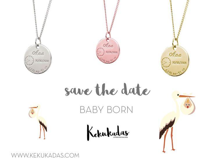 Acabas de ser #mamá, un nombre, una fecha, una personita especial...Todo tiene un significado especial para ti. Si ya has empezado a hacer tu lista de regalos para esta #Navidad... 👧¡Este #colgante debe estar en el primer puesto!👧  Con el #colgantepersonalizado #BabyBorn llevarás a tu peque siempre contigo, una joyita que te hará recordar... #FelizViernes ;) 👉www.kekukadas.com