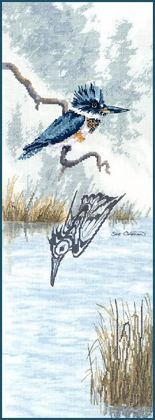 Cross Stitch KINGFISHER by Sue Coleman