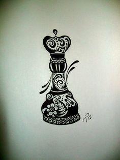 chess piece as a fractal tattoo - Cerca con Google