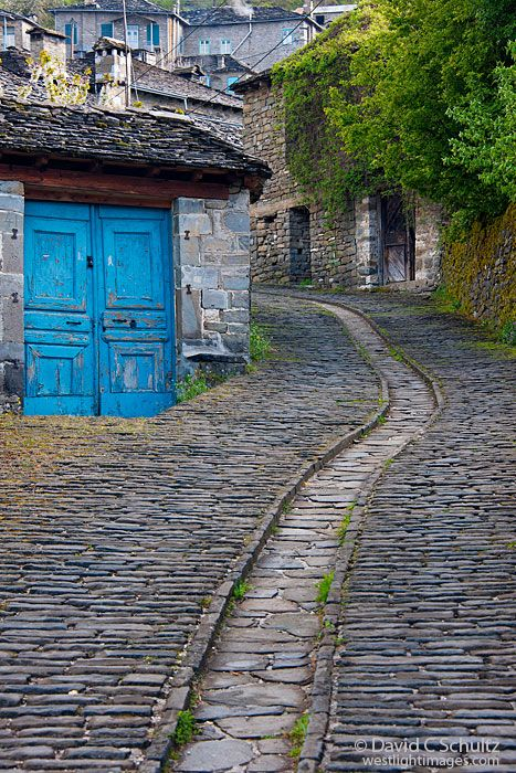 A blue door in the Zagoria region, village of Tsepelovo, Greece. Photo by David C. Schulz http://www.westlight.net/gallery.php?cat_id=22