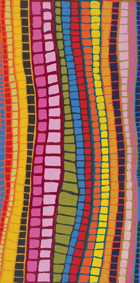 Nyaru by Brandy Tjungurrayi, Warlayirti Artists, 2007
