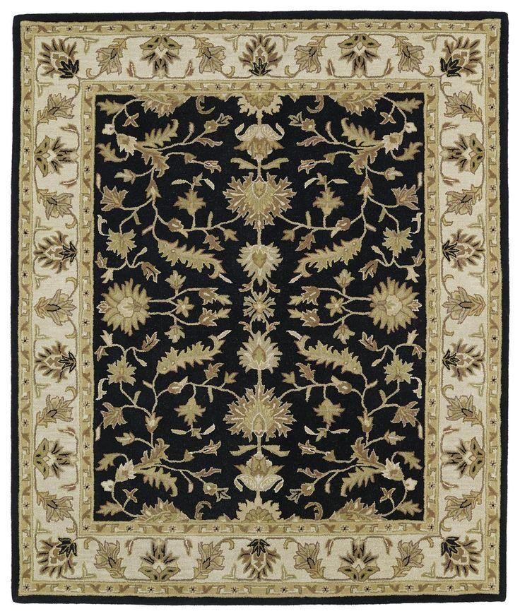 Taj TAJ16-02 Black Traditional Rug
