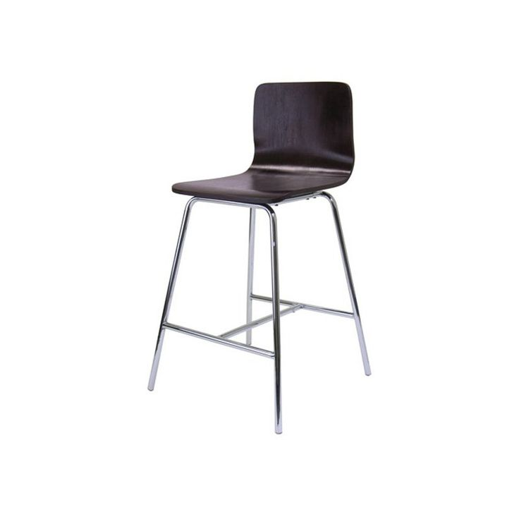 Winsome Archer 24 In Counter Stool With Chrome Legs