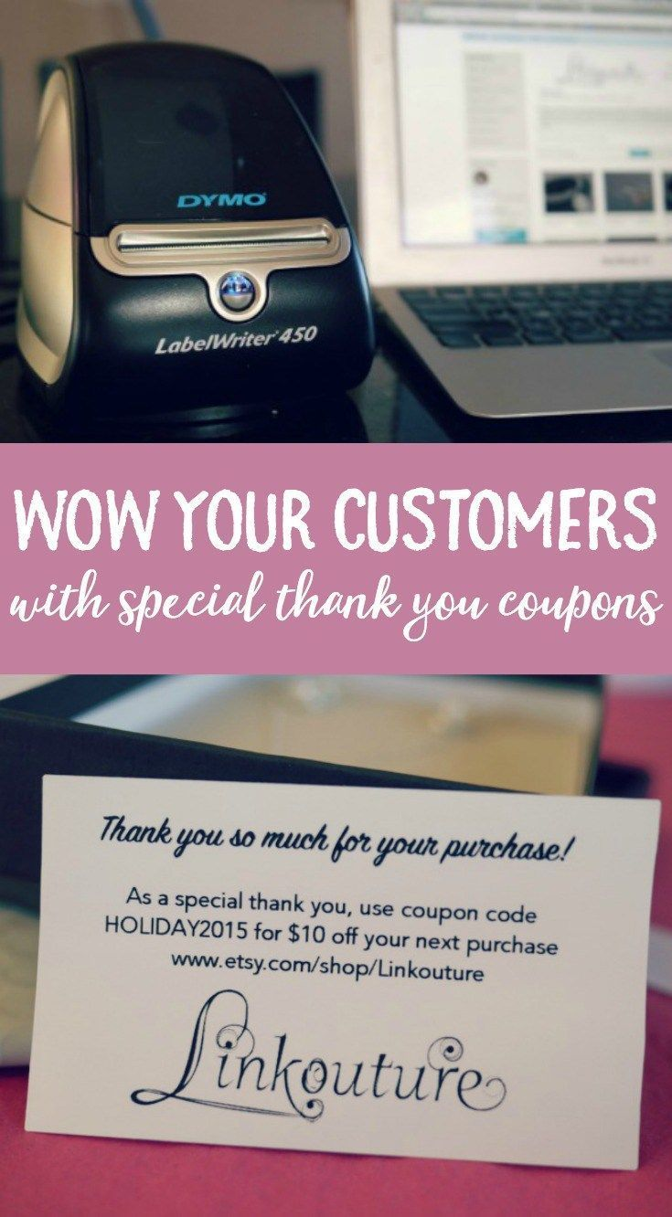 Wow your customers and create beautiful thank you coupons with ease with this DIY tutorial using your DYMO LabelWriter®️️. #ad