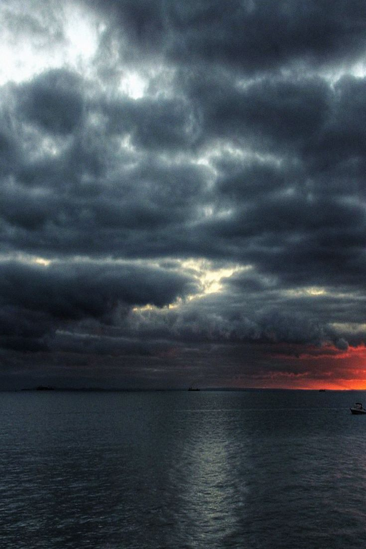 Dark Stormy Clouds At Sea Dark Stormy Clouds Weather Wallpaper