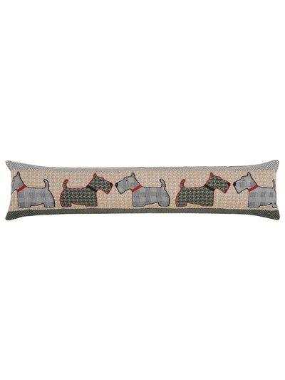 Tweed scotty dog draught excluder
