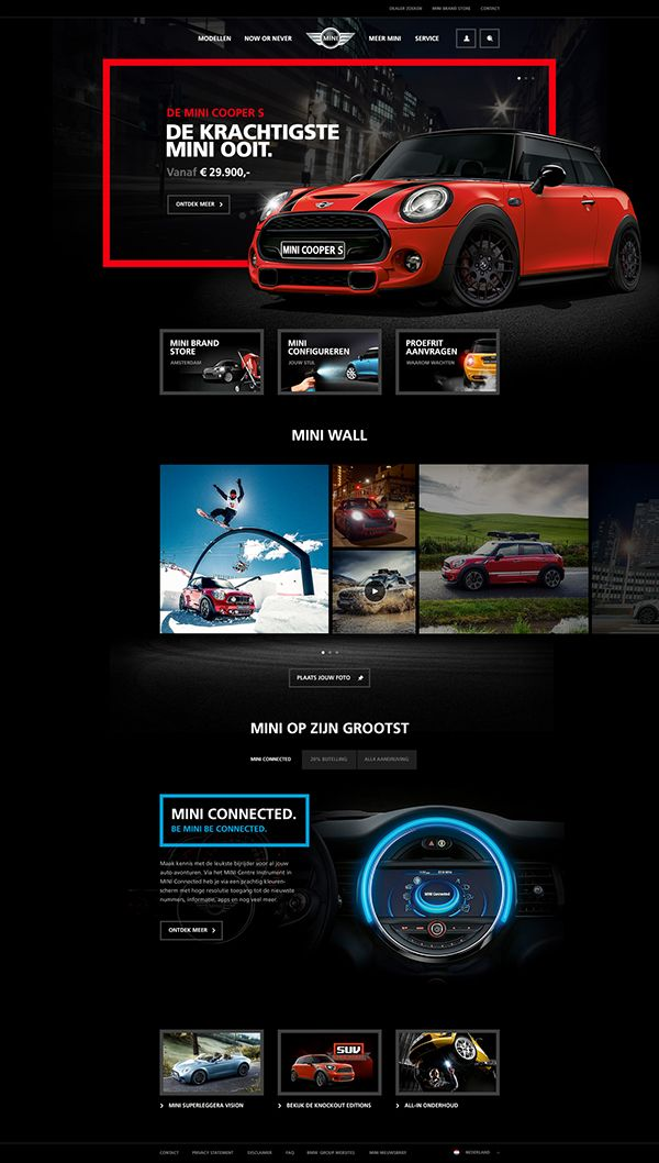 mini homepage concept tom arends car red dark