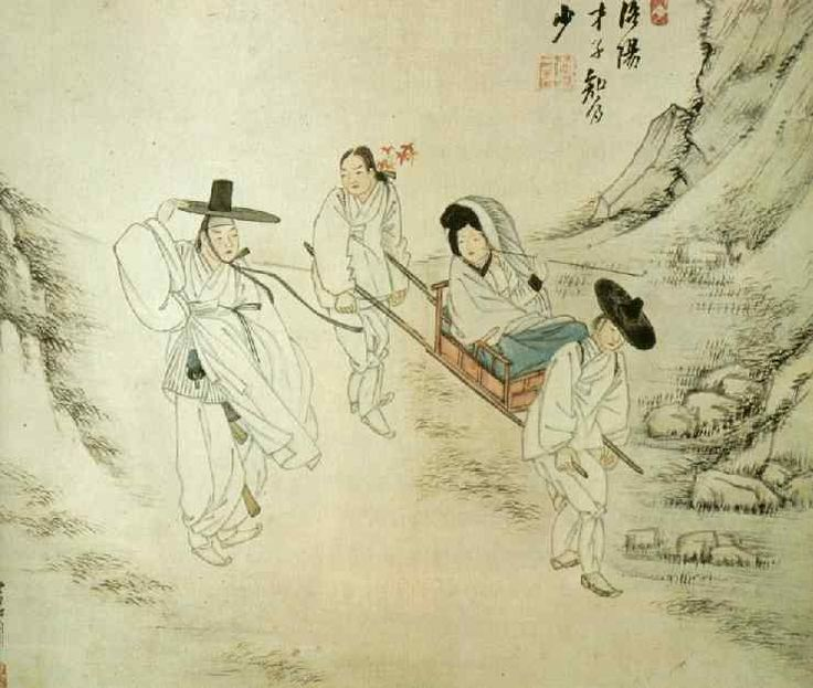 휴기답풍 (기녀를 태우고, 단풍을 밟고 지나간다)