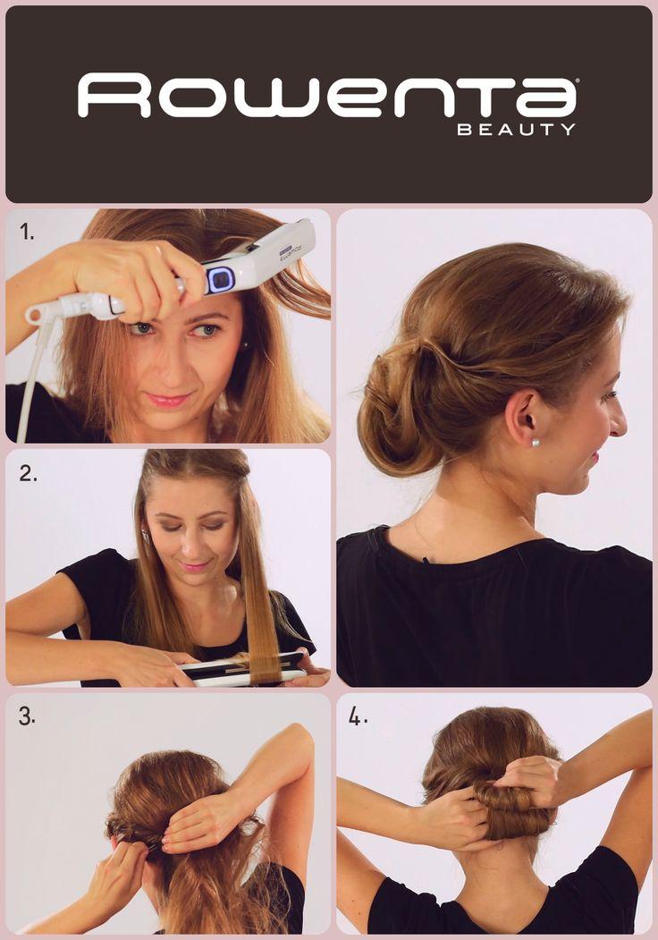 Luźny kok  Krok 1. Unieś włosy od nasady przy pomocy VOLUM'24 Krok 2. Zrób luźne fale, używając prostownicy RESPECTISSIM 7/7 Krok 3. Zakręć ślimaka od skroni do karku, powtórz ten sam krok z drugiej strony Krok 4. Zbierz włosy nad karkiem i upnij je w luźny kok #Respectissim #Rowenta #RowentaPolska #fryzura #włosy #hair #hairstyle #hotd  #wlosomaniaczka #wlosomaniaczki #hairmania #hairgoals #haircolor #curls #waves #straightner #volum #wavy #straight #easy #tutorial #stepbystep