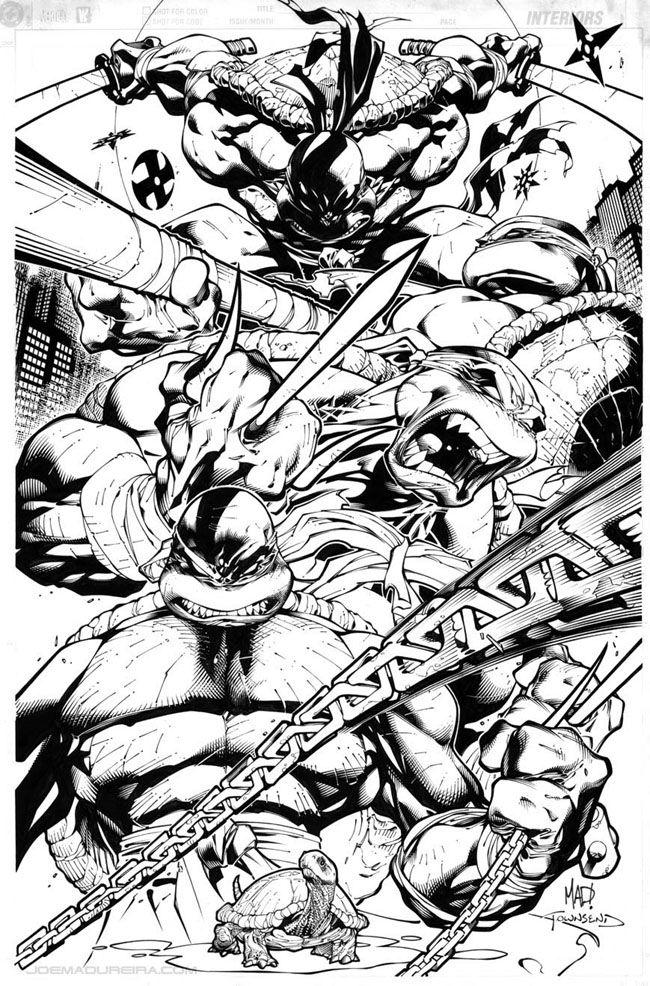 Teenage Mutant Ninja   Turtle inks by Joe Madureira