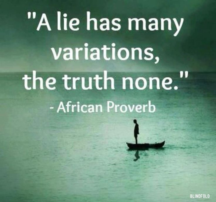 Stop Lying and Tell the Truth Already! Click here for the article: http://dinablas.com/blog/stop-lying-and-tell-the-truth-already/