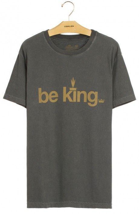 T-shirt stone Be King Ashaninka collection by @osklen na @embau_brazilianwear_store . Disponível também na loja online !