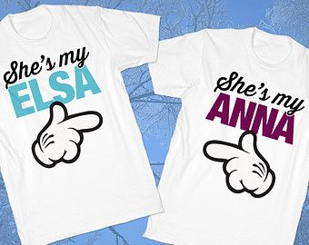 Elsa & Anna | Frozen Shirts | Buddy T Shirts | Adults White Tshirt