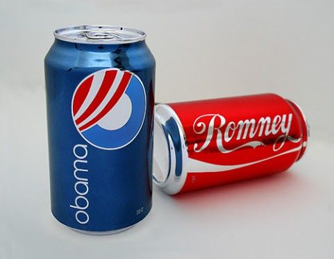 Obama vs Romney compared with Coke vs Pepsi