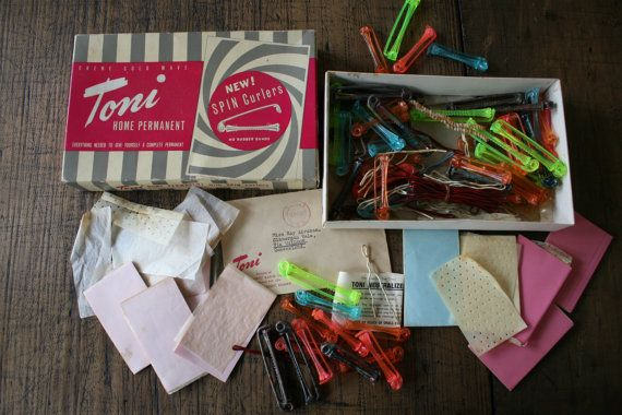 Toni Home Permanent Kit with Spin Curlers Vintage by FoundByHer