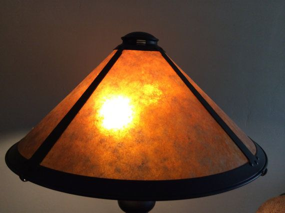 Amber Mica Lamp Shade replacement supply by BusterJustis on Etsy
