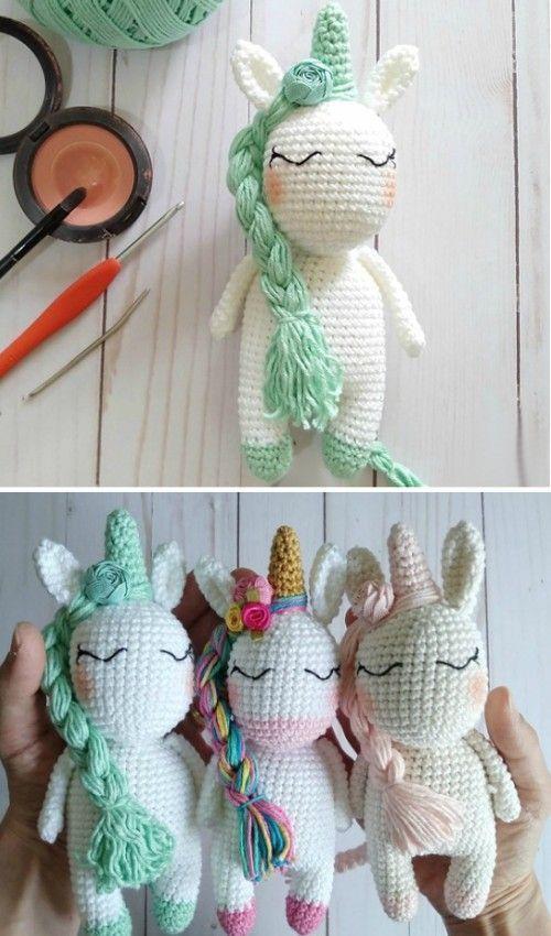 Mini licorne arc-en-ciel au crochet – modèle gratuit [amigurumi ...   850x500