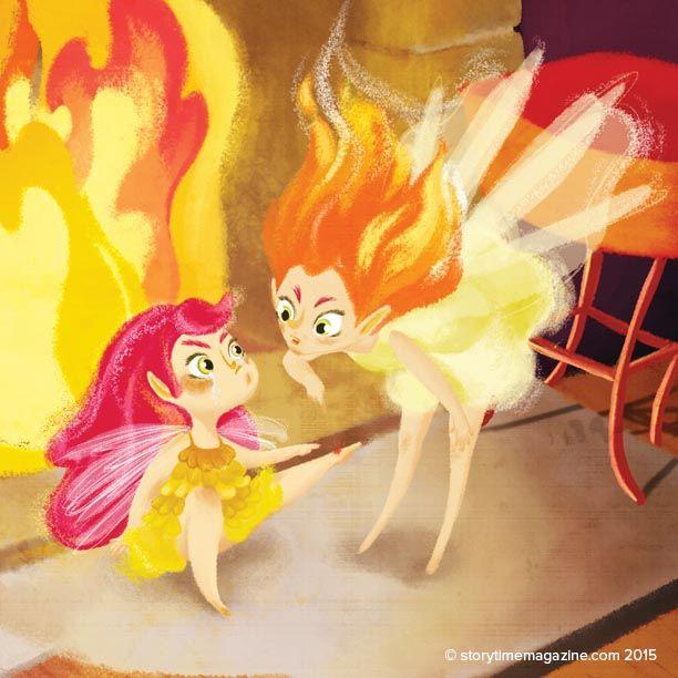 A Fire Fairy pays a visit in our Issue 14 folk tale! Art by Isabella Grott (https://www.behance.net/isabellagrott) ~ STORYTIMEMAGAZINE.COM