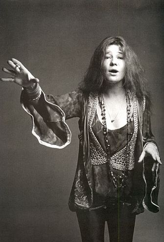 Janis Joplin photographed by Francesco Scavullo, 1969.