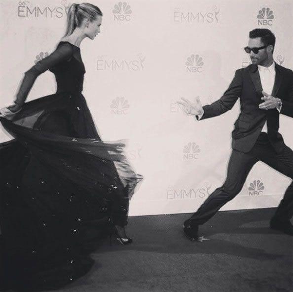 Behati Prinsloo and Adam Levine #Emmy