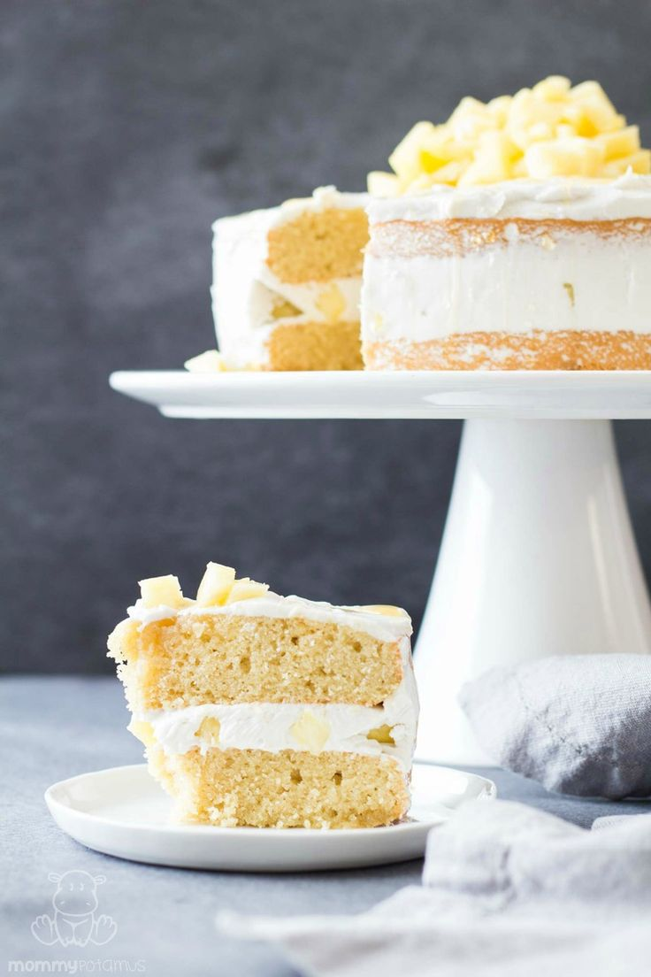 This gluten-free coconut cream cake tastes like a cold piña colada but in the form of a piece of cake. Are you drooling yet?