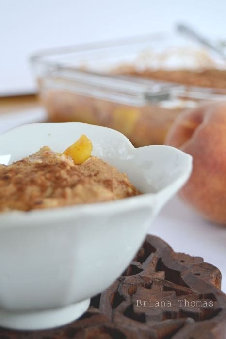 Peach Cobbler (Low-Fat, Sugar-Free, THM:E)