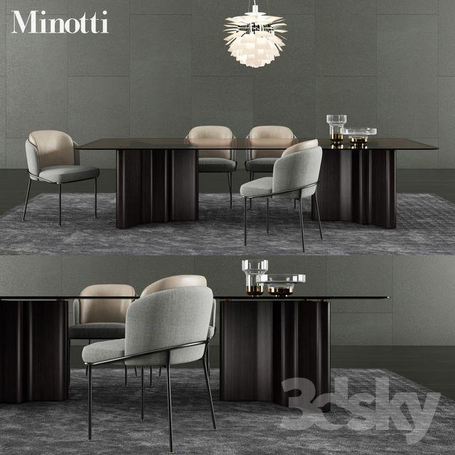 Minotti Lou Dining Table Fil Noir Dining Chair Dining Table Chairs Dining Chairs Modern Dining Chairs