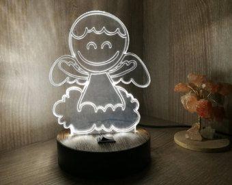 3D Night Light Spiderman Nursery Lamp Kids от WoodPresentStudio
